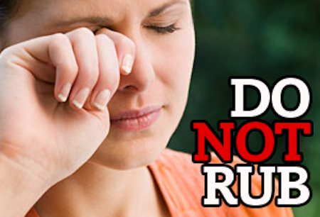 how to keep from rubbing your eyes